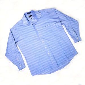 Arrow Blue Striped Long Sleeve Button Down